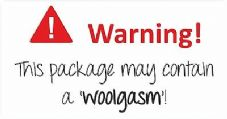 Fabricgasm/Woolgasm Packaging Stickers Funny Paper Stickers Fabric 120 Stickers